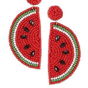 Anna & Ava Beaded Watermelon Statement Earring.